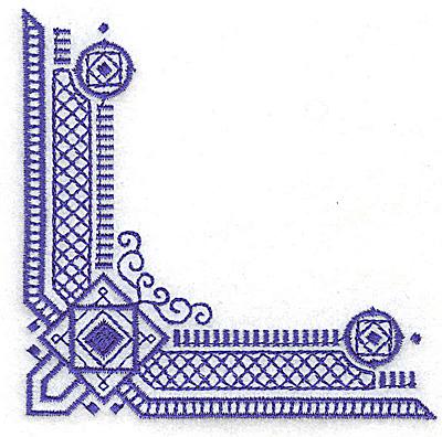 Embroidery Design: Elegant corner 7 small3.87w X 3.87h