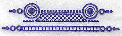 Embroidery Design: Elegant border 7 small 3.84w X 1.08h