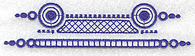 Embroidery Design: Elegant border 7 large 4.91w X 1.37h