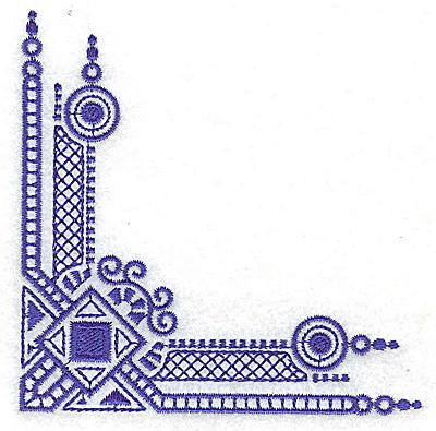 Embroidery Design: Elegant corner 10 small 3.85wX 3.85h