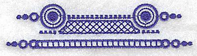 Embroidery Design: Elegant border 10 small 3.88w X 0.96h