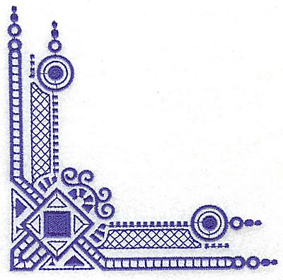 Embroidery Design: Elegant corner 10 large 4.92w X 4.92h