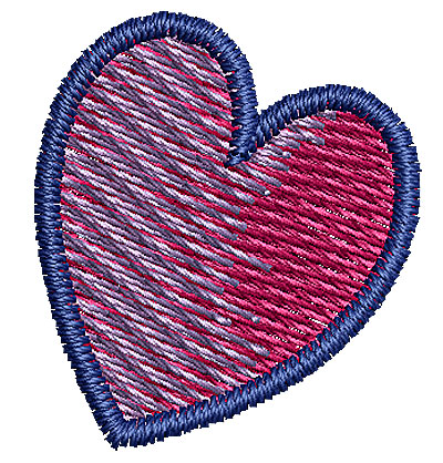 Embroidery Design: Heart 1 0.79w X 0.89h