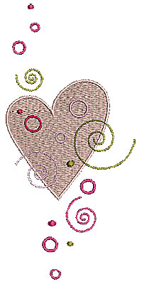 Embroidery Design: Heart with swirls 2 2.83w X 5.98h