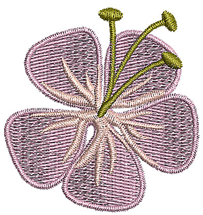 Embroidery Design: Flower 1 1.91w X 2.00h