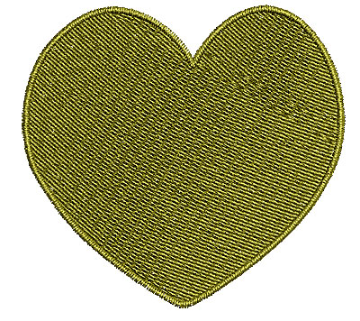Embroidery Design: Heart 2 2.90w X 2.71h