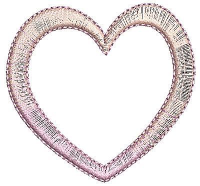 Embroidery Design: Heart 3 2.25w X 2.13h