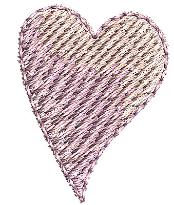 Embroidery Design: Heart 4 0.70w X 0.91h