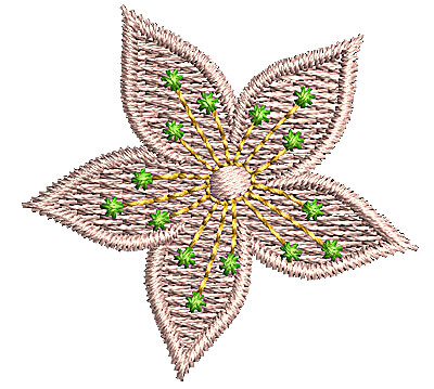 Embroidery Design: Flower 4 1.36w X 1.29h