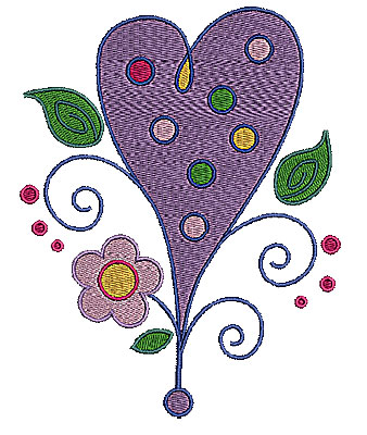 Embroidery Design: Heart with swirls 7 4.68w X 5.98h