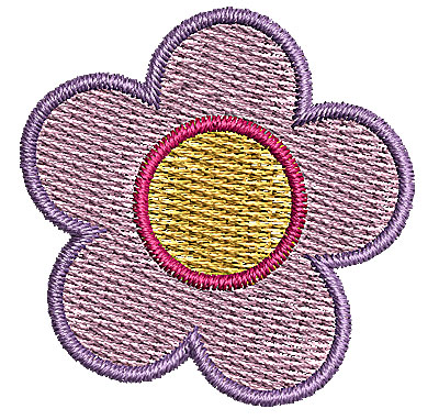 Embroidery Design: Flower 5 1.34w X 1.35h