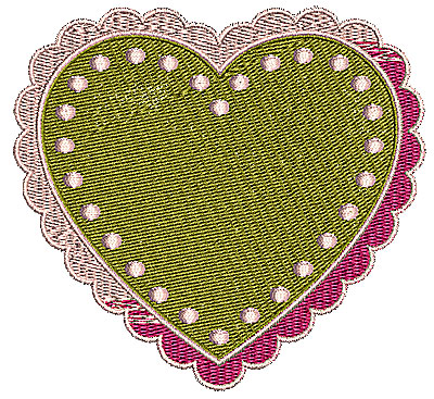 Embroidery Design: Heart 6 4.21w X 3.90h