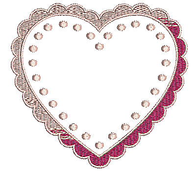 Embroidery Design: Heart 7 4.21w X 3.90h
