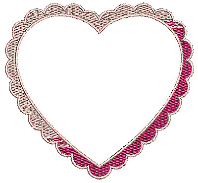 Embroidery Design: Heart 9 4.21w X 3.90h