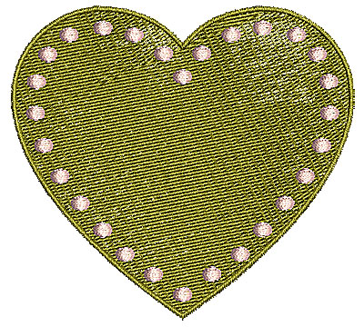 Embroidery Design: Heart 10 3.68w X 3.36h