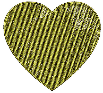 Embroidery Design: Heart 11 3.68w X 3.36h