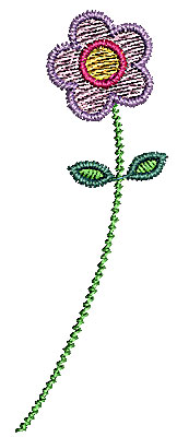 Embroidery Design: Flower 6 0.77w X 2.18h
