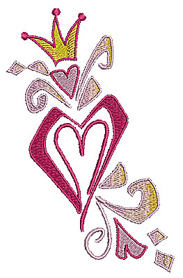 Embroidery Design: Heart girly 4.14w X 6.49h