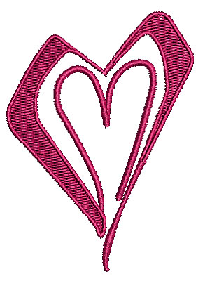 Embroidery Design: Heart 13 2.45w X 3.37h