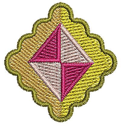 Embroidery Design: Diamond 1 1.28w X 1.36h