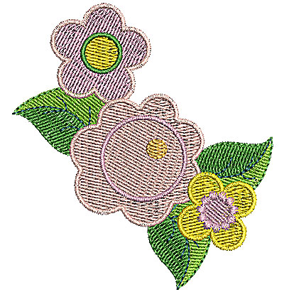Embroidery Design: Flowers 2.91w X 3.20h