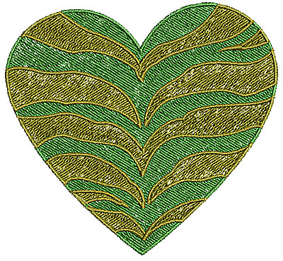 Embroidery Design: Heart 14 4.21w X 3.89h