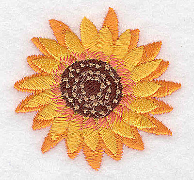 Embroidery Design: Sunflower small 2.08w X 2.06h