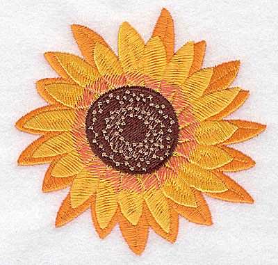 Embroidery Design: Sunflower large 3.87w X 3.84h