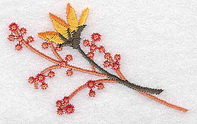 Embroidery Design: Bud and berries 2.77w X 1.77h