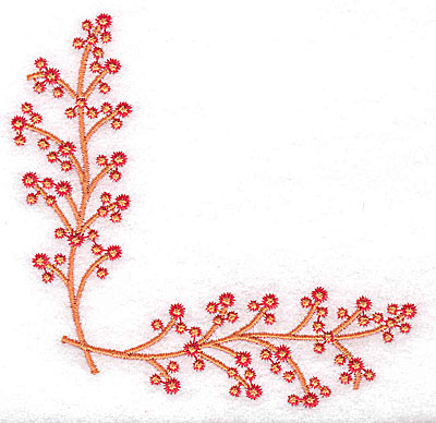 Embroidery Design: Berry Corner 3.86w X 3.86h