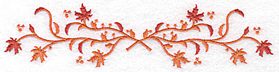 Embroidery Design: Double twigs and leaves 6.96w X 1.67h