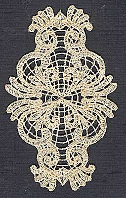 Embroidery Design: Lace 2 2.99w X 4.97h