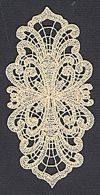 Embroidery Design: Lace 10 2.41w X 4.98h