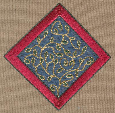 "Embroidery Design: Diamond 13.26"" x 3.24"""