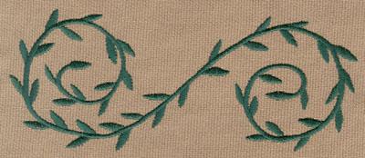 """Embroidery Design: Decorative Vine 25.87"""" x 2.41"""""""