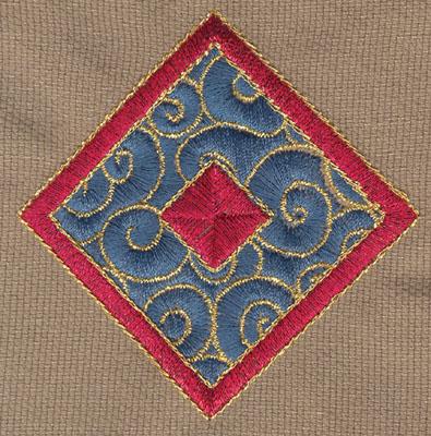 "Embroidery Design: Diamond 22.93"" x 3.00"""