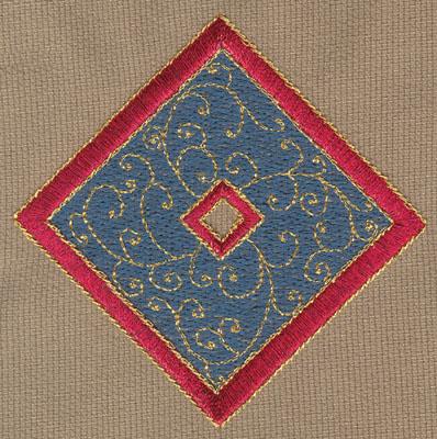 "Embroidery Design: Diamond 33.51"" x 3.50"""