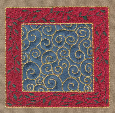 "Embroidery Design: Fancy Decorative Square (large)4.52"" x 4.37"""