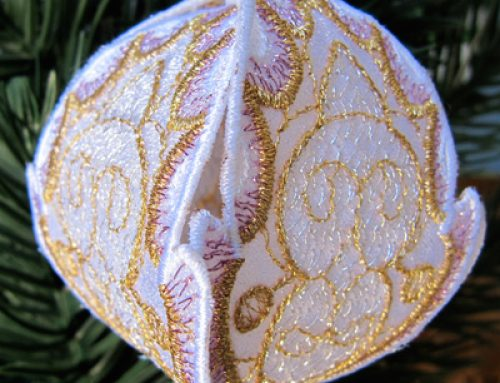 In-the-Hoop Embroidery Ornament Designs & Tutorial