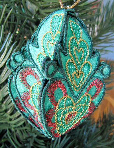 Embroidery Design: Christmas Ornament 2 small 4.99w X 4.99h