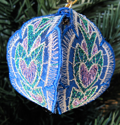 Embroidery Design: Christmas Ornament 3 small 4.99w X 4.99h