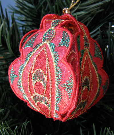 Embroidery Design: Christmas Ornament 4 small 4.99w X 4.99h