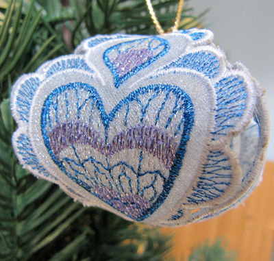 Embroidery Design: Christmas Ornament 5 small 4.98w X 4.98h