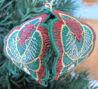 Embroidery Design: Christmas Ornament 6 small 4.99w X 4.99h
