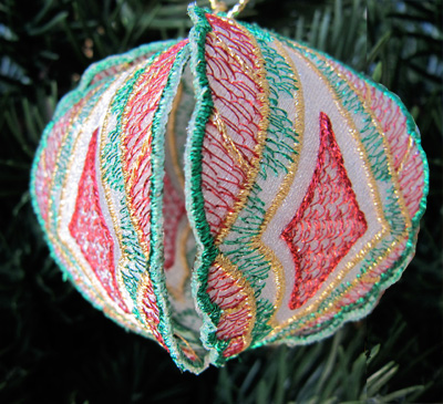 Embroidery Design: Christmas Ornament 8 small 4.99w x 4.99h