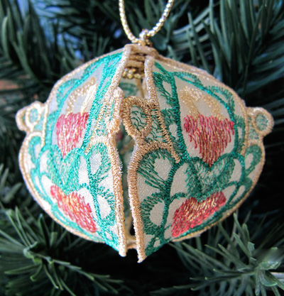 Embroidery Design: Christmas Ornament 9 small 4.98w X 4.98h