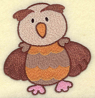 Embroidery Design: Owl3.26w X 3.48h