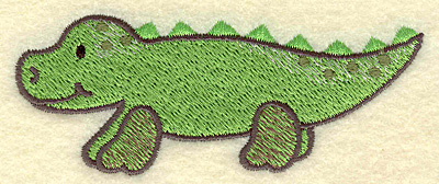 Embroidery Design: Alligator 3.87w X 1.55h