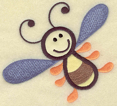 Embroidery Design: Bee double applique 4.40w X 4.03h