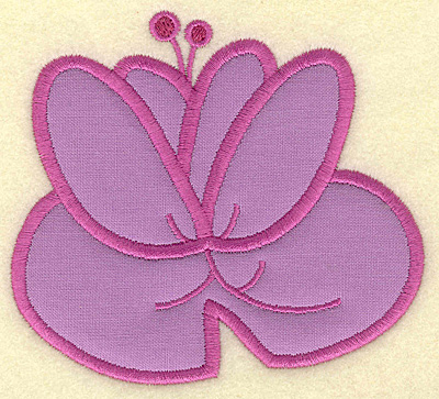 Embroidery Design: Water lily applique 4.26w X 3.86h